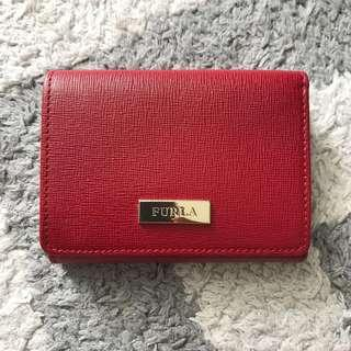 Furla Small Trifold Wallet Red
