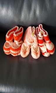 Baby's Hand Knitted Booties