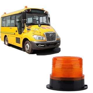 P8 12V/24V Vehicle Roof Top Brand New Blue Yellow Red 12V LED Car Truck Magnetic Warning Light Flash Beacon Strobe Emergency Lamp (Amber)