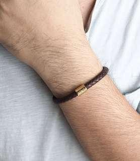CUSTOM BRAIDED LEATHER BRACELET | FREE SHIPPING SM SS | FREE GIFT | 18k GOLD