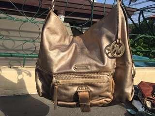 Original GOLD MICHAEL KORS SHOULDER BAG