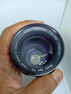 Super Takumar 150mm f4 c/w Takumar Lens Case