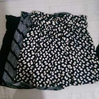 Tie Shorts Loose Flowy Garterized Boho