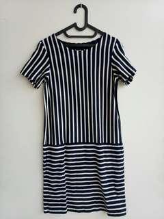 Dress stripe uniqlo