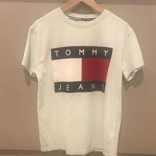 Tommy Jeans Vintage Mint Green Tee Size Small