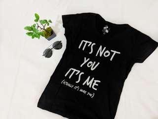 Black and white sassy statement shirt top