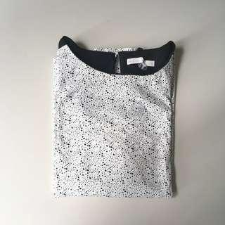 Sheer shoulder long sleeves blouse #Halloween50