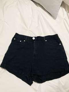 Dissh Black Denim Shorts