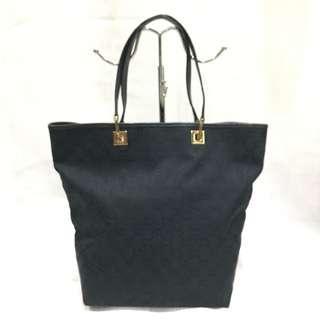 Gucci Black GG Supreme Canvas Shopper Tote Bag