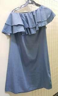 One Shoulder Toga Dress