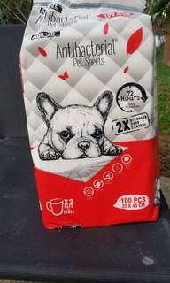 Antibacterial pet sheets for dogs