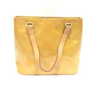 Louis Vuitton Yellow Vernis Houston Hand Bag