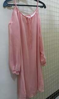 3/4 Sleeved in Cold Shoulder Dress