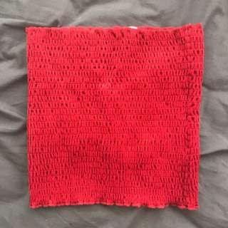 Urban Outfitters Red Velvet Bandeau Size S