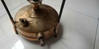 Solid Brass kerosene Oil pump cooker. Butterfly brand. Circulated for use in the middle east.