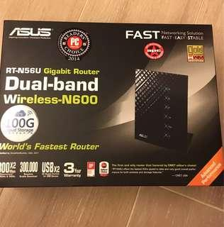 ASUS RT-N56U Gigabit Router full set Dual-band wireless N600