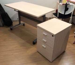 Work & Study table with 3 drawer cabinet - 2 sets