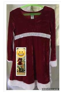 Preloved Santa Costume for girls