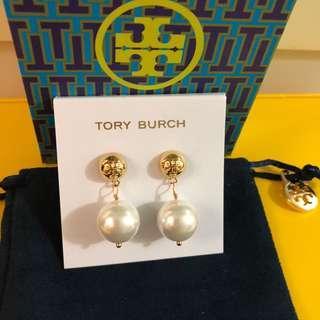 TB Pearl Drop Earrings