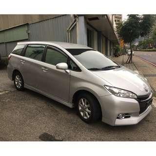 正2010年 最新款Toyota Wish 2.0E-HI非自售 一手車 實車實價 貸款找錢 全額貸款