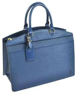SALE - AUTHENTIC LOUIS VUITTON EPI TOLEDO BLUE RIVIERA BEAUTY CASE / BAG