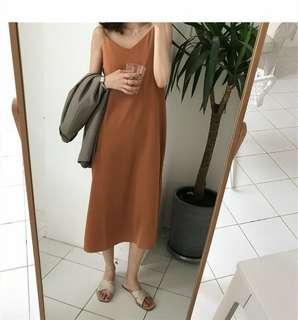 New with tag Brown Dress