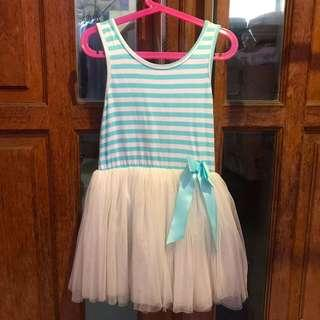 Blue strip balerina kid dress