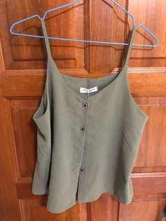 Brand New Green Sleeveless Top