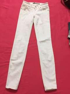 #SINGLES1111 GUESS white power skinny low jeans