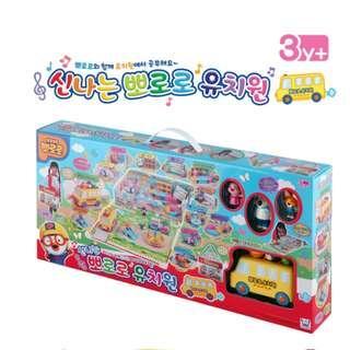 Pororo KINDERGARDEN Playground Play Set School Bus 6 Figures Toy Korea Character