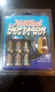 McWheel Heptagon Wheel Nut with Lock (16 pcs)
