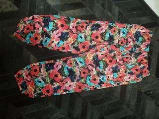 Uniqlo flower pants