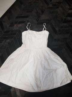 Real Armani Exchange white sun dress