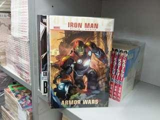 美國漫畫 MARVEL出版 鐵甲奇俠 iron man  armor wars 硬皮書