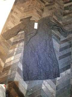 Never worn black lace long sleeve dress