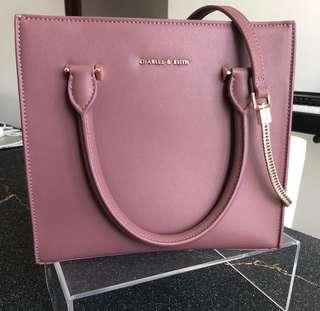 Charles & Keith brand new handbag (vintage rose pink colour)