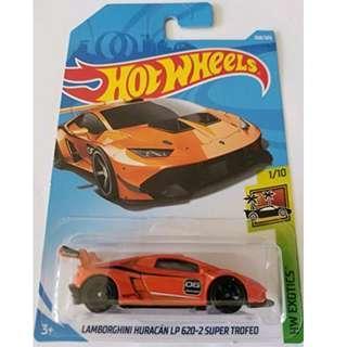 Hotwheels 2018 HW Exotics Lamborghini Huracan LP 620-2 Super Trofeo Rare