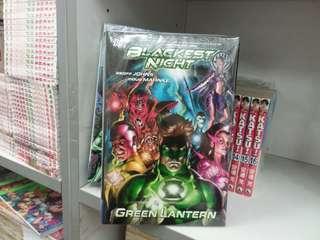 美國漫畫 綠燈俠 green lantern BLACKEST NIGHT DC出版 硬皮書