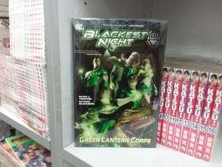 美國漫畫 綠燈俠 green lantern corps BLACKEST NIGHT DC出版 硬皮書