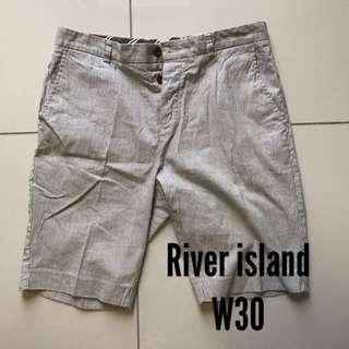 RIVER ISLAND stripes white grey black shorts
