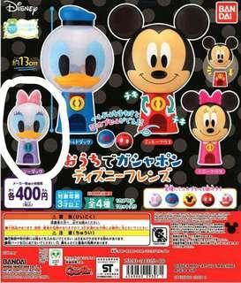 (全新)迪士尼 Daisy 迷你大頭 扭蛋機