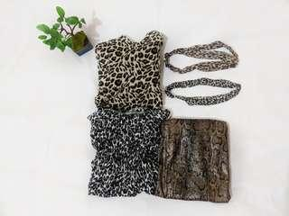 Animal print dress BUNDLE + headbands