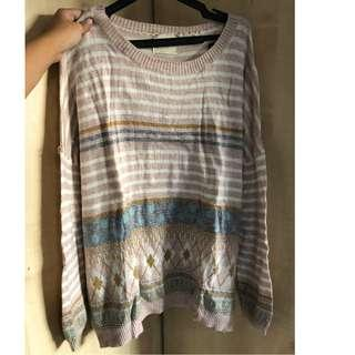 nobrand pastel sweater (fits S)