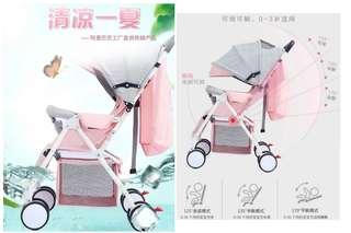 (免運-標配版)寶貝推車輕便折疊嬰兒車大空間手推車