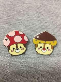 價高者得 Disney game pin Chip dale 生果 襟章