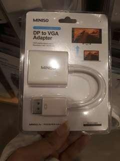 Miniso DP to VGA adapter (display port)