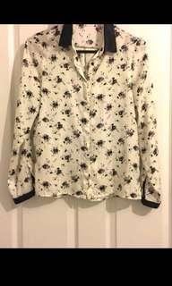 Zara Floral White Blouse