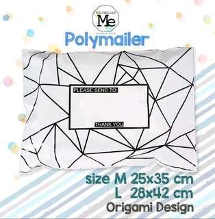 Polymailer bag/ Origami design