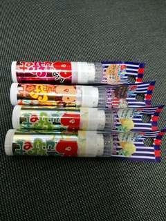 潤唇膏 lip buffet 5g 1pc (peach / lime / popcorn)