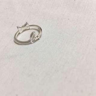 (NEW) agnes b - 925 Sterling Silver Ring 純銀雙面戒指